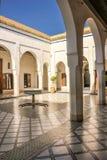 Bahia Palace Binnen werf marrakech marokko royalty-vrije stock foto