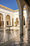Bahia Palace. inner yard.  Marrakesh . Morocco Royalty Free Stock Photo