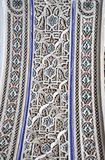 Bahia Palace interior decoration. Bahia Palace close up arch stucco decoration in medina of Marrakech Stock Photo