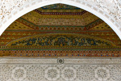 Ornaments Bahia palace interior architecture Marrakesh Morocco Royalty Free Stock Images