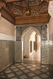 Bahia Palace interior marrakesh marrocos Imagens de Stock