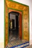 Bahia Palace interior marrakesh marrocos Imagem de Stock Royalty Free