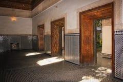 Bahia Palace. interior.  Marrakesh . Morocco Royalty Free Stock Photos