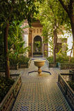 Bahia Palace Jarda interna marrakesh marrocos Imagens de Stock Royalty Free