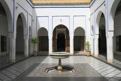 Bahia Palace. Located in Marrakech, Morocco Stock Photo
