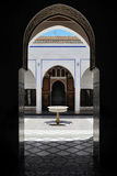 Bahia. The Bahia Palace is located in the medina of Marrakech. The building was in use between 1859 and 1873 and was completed by 1900. It's now a tourist Stock Photo