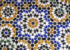 Bahia palace mosaique. Beautiful Bahia Palace mosaique in medina of Marrakech in Morocco country stock images