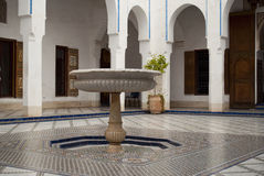 Bahia Palace in Marrakech, Morocco. The Bahia Palace is a palace and a set of gardens located in Marrakech, Morocco. It was built in the late 19th century Stock Images