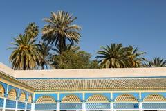 Bahia Palace and palm trees Royalty Free Stock Photos
