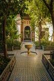 Bahia Palace Yard intérieur marrakech morocco Images libres de droits