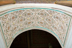 Bahia-Palast-Marrakesch-Wölbung Stockbild
