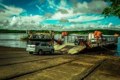 Bahia Porto Seguro Ferry para o transporte do veículo Foto de Stock Royalty Free