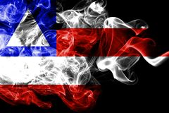 Bahia smoke flag, state of Brazil.  stock photo
