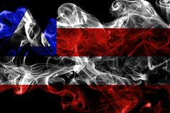 Bahia smoke flag, states of Brazil. On a black background royalty free stock image