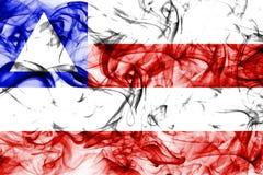 Bahia smoke flag, states of Brazil. On a white background stock image