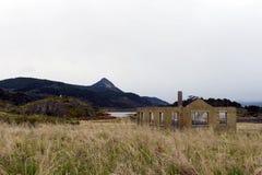 Bahia Wulaia è una baia sulla riva occidentale di Isla Navarino lungo Murray Channel nel Cile del sud estremo Fotografia Stock