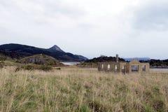 Bahia Wulaia es una bahía en la orilla occidental de Isla Navarino a lo largo de Murray Channel en Chile meridional extremo Imagenes de archivo