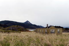 Bahia Wulaia es una bahía en la orilla occidental de Isla Navarino a lo largo de Murray Channel en Chile meridional extremo Foto de archivo