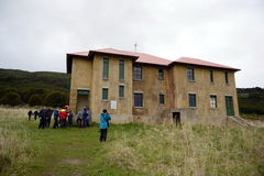 Bahia Wulaia es una bahía en la orilla occidental de Isla Navarino a lo largo de Murray Channel en Chile meridional extremo Foto de archivo libre de regalías