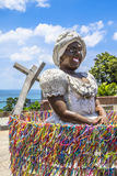 Bahiana rzeźba w Pelourinho okręgu obraz royalty free