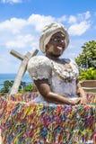 Bahiana sculpture in Pelourinho district Stock Photos