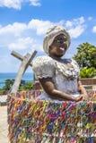 Bahiana sculpture in Pelourinho district Royalty Free Stock Image