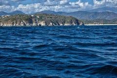 Bahias de huatulco,太平洋,瓦哈卡,墨西哥 免版税库存照片