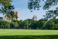 Bahind Central Park de gratte-ciel Photographie stock libre de droits