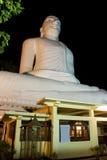 Bahirawakanda, Kandy, Sri Lanka. Night image of Bahirawakanda Budha, a giant buddha statue sitting on top of a hill at Kandy, Sri Lanka Stock Images