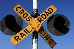 Bahnüberfahrt stockfotos