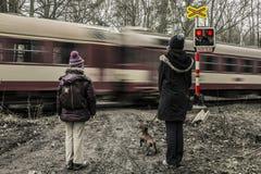 Bahnübergang Lizenzfreie Stockbilder