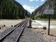 Bahnübergang der Animas-Fluss Stockbild