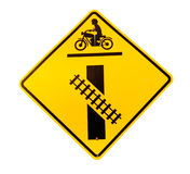 Bahnübergang Zeichen- Stockbild