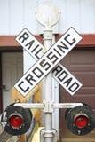 Bahnübergang Zeichen- Lizenzfreie Stockfotos