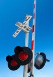 Bahnübergang Zeichen- Stockfoto