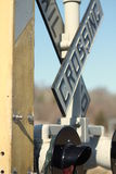 Bahnübergang Zeichen- Stockfotos