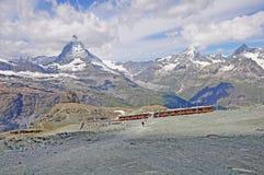 Bahn de Gornergrat. Suiza. Imagenes de archivo