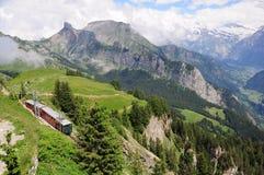 Bahn de Schynige platte. Suiza. Foto de archivo