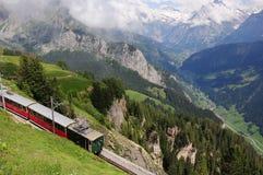 Bahn de Schynige platte. Suiza. Fotos de archivo libres de regalías