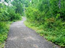 Bahn durch und mit Natur Stockfoto
