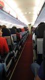 Bahn im Flugzeug Stockbild