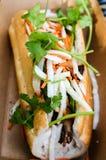Bahn Mi kanapka w Kartonowym zbiorniku Fotografia Royalty Free