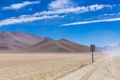 Bahn nicht für den Straßenverkehr in der Atacama-Wüste, Bolivien Stockfoto