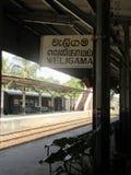 Bahn-Staion in Weligama/in Sri Lanka Stockfotografie