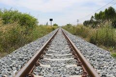 Bahn- und grasartig vom Gras stockfotografie
