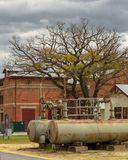 Bahn- Werkstätten in West-Australien stockbild