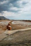Bahn zum Toten Meer Stockfotos