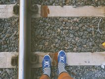 Bahnabenteuer lizenzfreies stockbild
