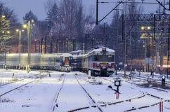 Bahnabstellgleis Stockbilder