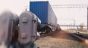 Bahnbehälter Stockfotos